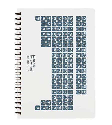 雑学罫線ノート 元素記号 A5 青色