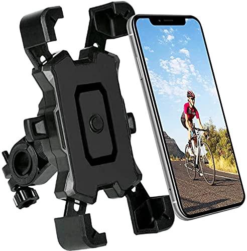 自転車 スマホホルダー ワンタッチ固定 360度回転 電動自転車 バイク用 すまほホルダー アクセサリー スマホスタンド かわいい 立て 原付 用品