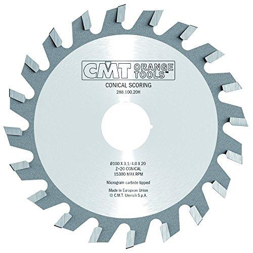 CMT Orange Tools 288.100.20K - Sierra incisora 100x3.1/4.0x22 z 20 conico