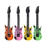HEALLILY 4 Piezas de Guitarra Inflable Juguetes Inflables Rock Star Toy Set Accesorios de Fiesta Inflables Inflar Instrumentos Musicales para Niños Fiesta de Música Favorece Regalos Color Aleatorio