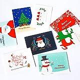 Weihnachtskarten mit Umschlag Set 32 Stück Weihnachtspostkarten Sprüche Christmas Cards Nostalgie Weihnachtskarten Klappkarten Set Postkarten WeihnachtsgrüßE Karten Weihnachten Blanko GrußKarten Set