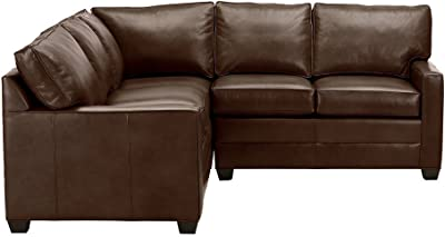 Amazon Com Ethan Allen Arcata Three Piece Leather Sectional Omni