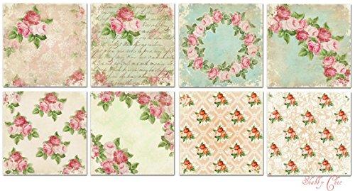Paper Moon - Scrapbooking carta di lusso 15cm x 15cm 8 fogli - Shabby Chic