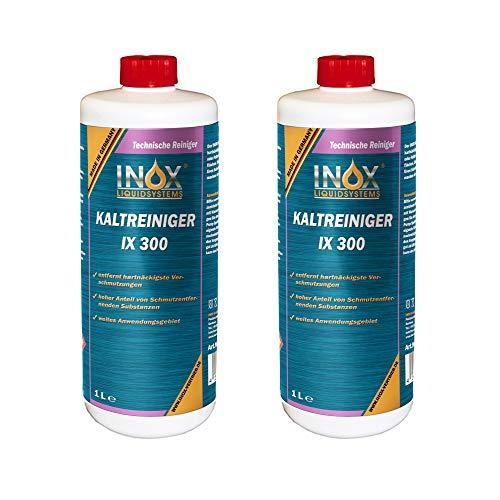 INOX® IX 300 Nettoyant à Froid pour Moteur, Nettoyant concentré Contre Les huiles, Le Goudron et Les Graisses - 2 x 1L