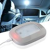 yifengshun - Luces de techo para techo de coche, 10 LED, universal, recargable por USB, inalámbrica, LED, luz de techo, blanca para interior de coche, remolque, autocaravana, prensa de camión