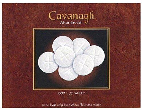 White Altar Communion Bread 1000 Count Box 1 1/8' Round With Cross Design