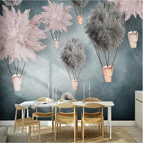 Fotomurales papel de pared 3d Pluma abstracta no tejido moderna Fotográfico Diseno TV Fondo grandes salones Hogar decorativos -350X250 cm (137 * 98 pulgadas)