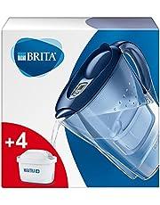 Marella Blue filterkaraf voor water, set met 4 filters Maxtra+ incl.