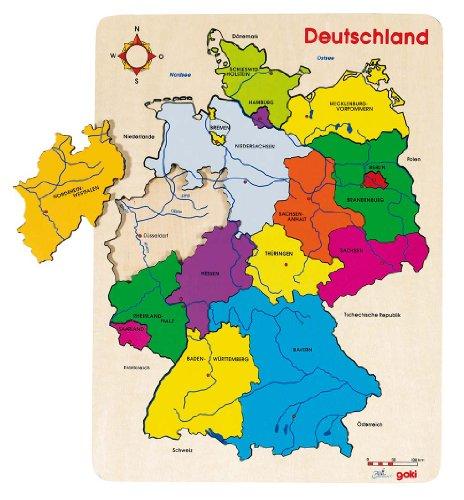 Goki- Alemania II Puzzles de Madera, 57860