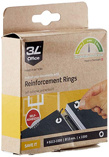 Fisherclark WS5006 Extra Strong Vinyl Reinforcement Ring (Pack of 1000)
