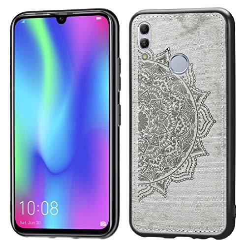 Dmtrab Huawei Honor 10 Lite Case, PATERÍA Mandala EN RELUSTED PC + TPU + Tela Funda Protectora a Prueba de Golpes (Negro) Cajas de teléfono móvil (Color : Grey)