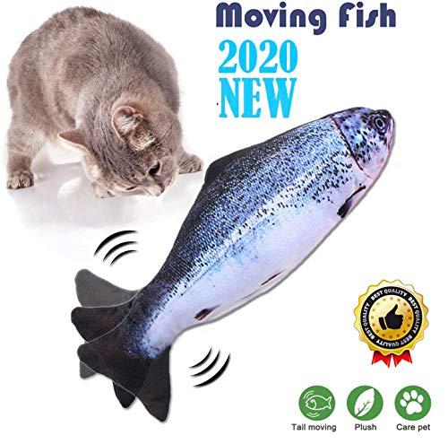 Sunshine smile Simulation Elektrischer Puppenfisch Realistischer Plüsch Wagging Fisch Katze Interaktives Spielzeug (B)