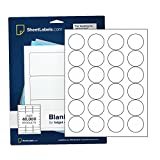1 2/3' Round Labels, All Purpose White, Laser or Inkjet Printing, 600 Labels