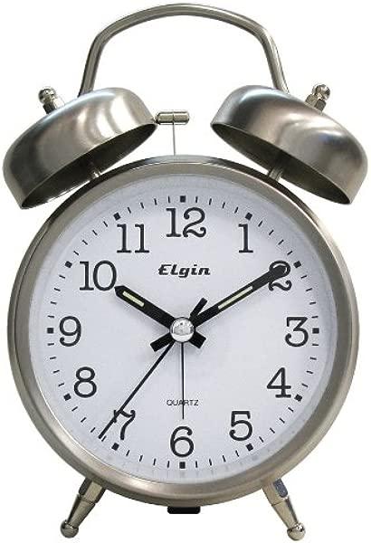 Elgin Quartz Analog Loud Twinbell Bedside Alarm
