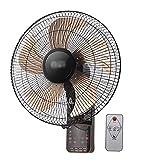 LLZH Wall Mount Fan - Remote Control - 5 Aluminum Blades - 3-Speed - 7.5h Timer - Oscillating Silent Fan - for Indoor Bedroom Home Kitchen,16'/40cm