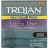Trojan Ultra Thin Condom 36ct (2 Pack)