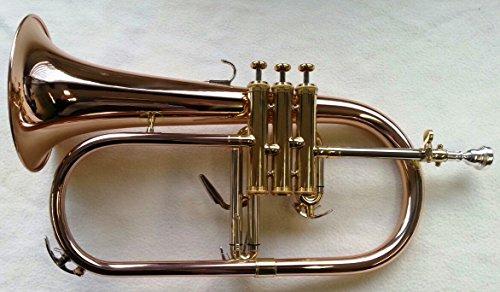 SYMPHONIE Westerwald Flügelhorn, Konzertflügelhorn in B, Goldmessing, Monelventile, Perinetventile
