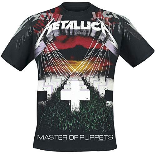 Metallica Master of Puppets - Faded Allover Männer T-Shirt schwarz M 100% Baumwolle Band-Merch, Bands