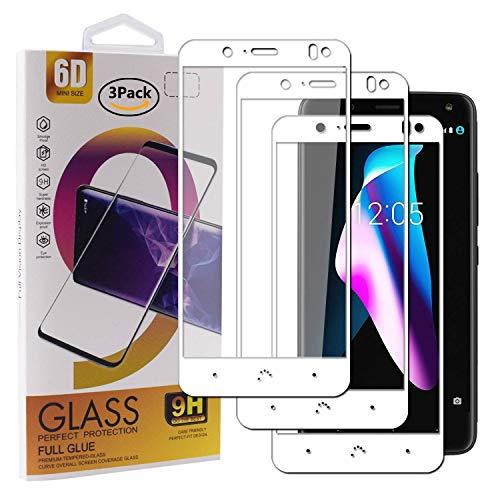 Guran [3 Paquete Protector de Pantalla para BQ Aquaris V/VS / U2 / U2 Lite Smartphone Cobertura Completa Protección 9H Dureza Alta Definicion Vidrio Templado Película - Blanco