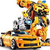 Robot Puede Cambiar La Forma del Coche Modelo Figura Alloy + ABS Figuras Anime Juguetes...