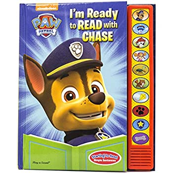 Paw Patrol - I m Ready To Read with Chase Sound Book - Play-a-Sound - PI Kids