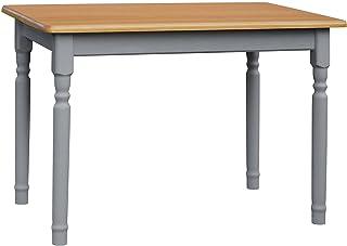 Multistore 2002 Table de salle à manger en pin massif Style maison de campagne Gris 80 x 90 cm