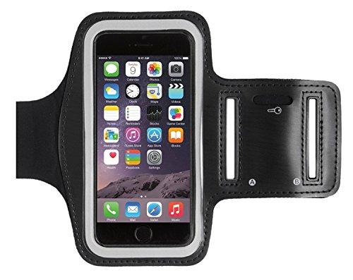 KHOMO Funda Brazalete Deportivo Antideslizante para Apple iPhone 8, iPhone 7, iPhone 6/6S - Negro
