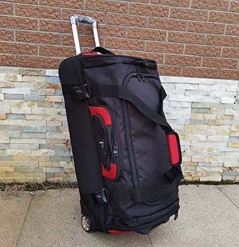 QFSZWX Bolso de Viaje de Hombros de Gran Capacidad 27/32 Pulgadas Estudiante Rolling Equipaje Mochila Hombres Trolley Suitcases Rueda (Color : Blue)