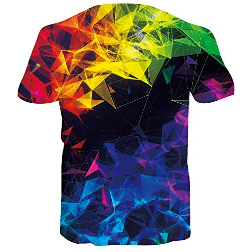 RAISEVERN Men Women T Shirts Summer 3D Printed Short Sleeve Ployester Graphic Tee Tops Large
