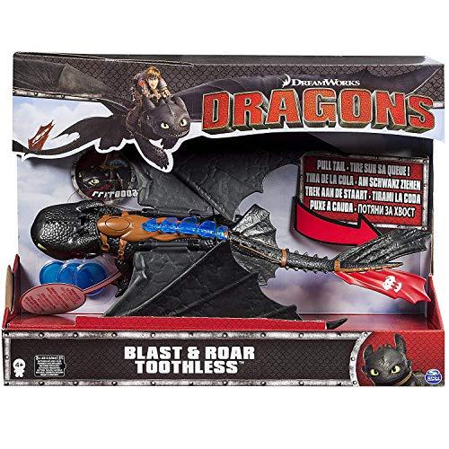 Dragons- Dragon Trainer Sdentato Gigante con luci e proiettili, 6024756