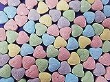 Wonka Sweetart Hearts Conversations Hard Candy, Pink Purple Green Blue Yellow, Bulk 2 Lbs
