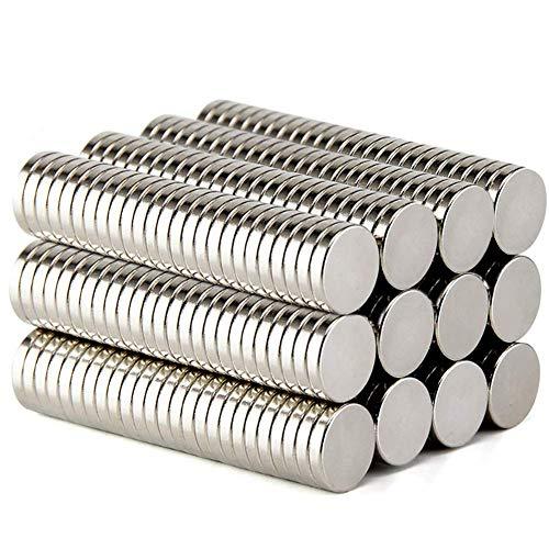 DIYMAG Refrigerator Magnets Premium Brushed Nickel Fridge Magnets, Office Magnets - 12 X 2 mm 100Piece