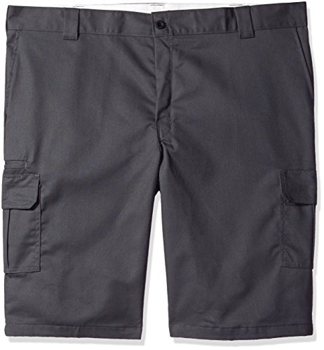Dickies Men's 13 Relaxed Fit Stretch Twill Cargo Short Big, Charcoal, W46