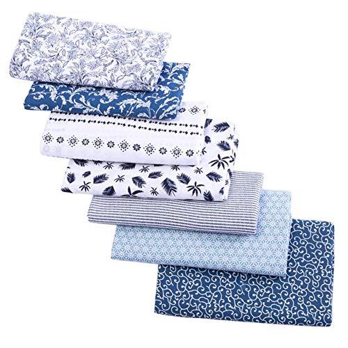Tela de algodón DIY patchwork algodón puro 7 unids 50x50cm diferentes patrón patchwork tela de algodón para bricolaje artesanía costura Quilting Style1