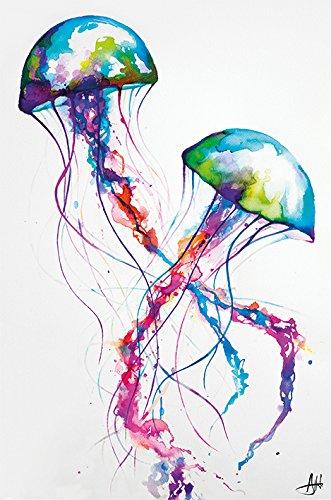 Marc Allante Jellyfish Maxi Poster, 61 x 91.5cm, Multi-color