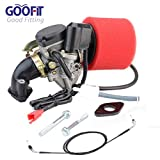 GOOFIT Carburateur Filtre À Air Collecteurs d'échappement D'admission Manifold Throttle Câble pour GY6 49cc 50cc Scooter Aller Karts Cyclomoteurs pd18 Scooter Moped Taotao Kymco