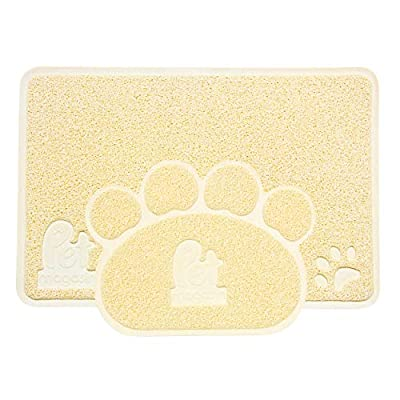Pet Magasin Cat Litter Mats by (2-Mat Set) Non-Toxic & Soft & Durable & Water-Proof Pet Litter Pads for Cats, Dogs, and Puppies