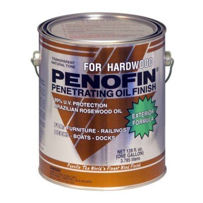 Penofin Deep Penetrating Oil Treatment for Exotic Hardwood Exterior, Wood Stain Natural Finish (1 Gallon)