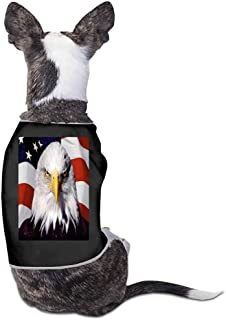 StyleDirect Puppy Kitten Print Jacket,Bald Eagle and American Flag Dog Soft Warm Jacket Fur Clothing