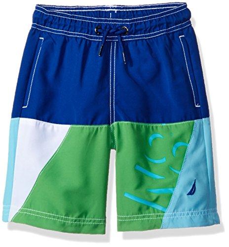 Nautica Little Boys' Swim Trunk with UPF 50+ Sun Protection, Cobalt Colorblock, Extra Large (7X)