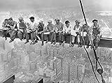 wandmotiv24 Carta da parati Pranzo di New York in cima a un grattacielo Größe: 350 x 260 cm Carta da parati a motivi, carta da parati a motivi, carta da parati in vinile KTk305