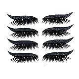 4 Paar falsche Wimpern mit Eyeliner-Aufkleber, 2 in 1 3D-Wimpern, natürliche künstliche Wimpern, wasserdichtes falsches Wimpern-Set, Augenlid-Make-up-Aufkleber, für Party und tägliches...