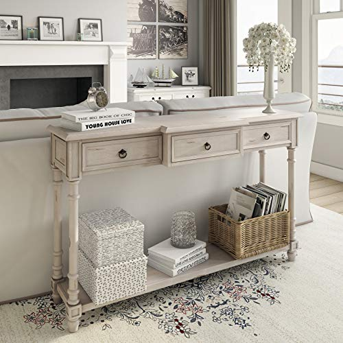 Right2Home 3 Drawer White Entryway Console Table