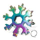 TOCYORIC 18 en 1 snowflake multi tool Multiherramienta copo de nieve Destornillador multi-herramienta bricolage herramientas Llave de destornillador portátil regalo, regalo de Navidad