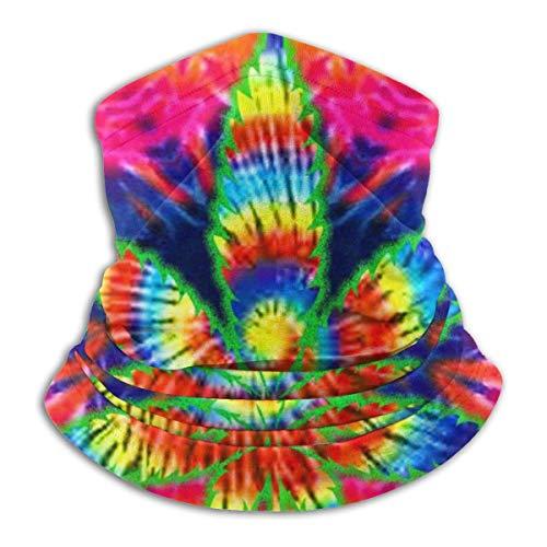 Cathycathy Rainbow Weed Neck Warmer Polaina Bandana Head Wrap Bufanda Headwear Pasamontañas