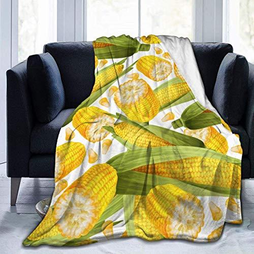 Hangdachang Thanksgiving Corns Soft Throw Decke Leichte Flanell Fleece Decke für Couch Bett Sofa Reisen Camping für Kinder Erwachsene