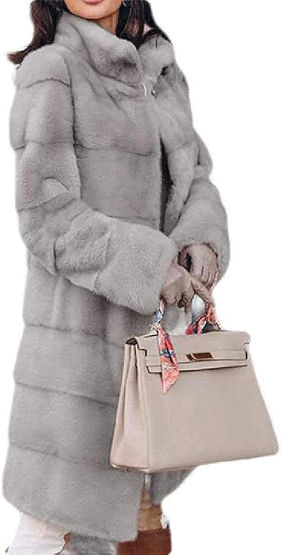 Women Overcoat Jacket Outerwear Winter Thick Warm Faux Fur Coats