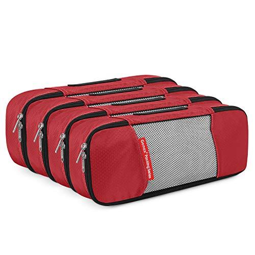Gonex , Organizer per valigie , (4 Schmale)Rot (Rosso) - GX010D-DE