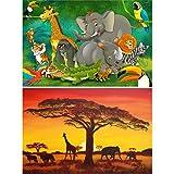 GREAT ART 2er Set XXL Poster – Safari Bilder –