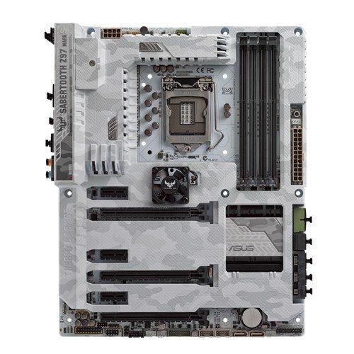Asus TUF Sabertooth Z97 Mark S Mainboard Sockel 1150 (ATX Intel Z97, 4x DDR3 Speicher, 6x SATA 6Gb/s, 4x USB 3.0, 4x USB 2.0, PCIe 3.0, Thunderbolt 2)